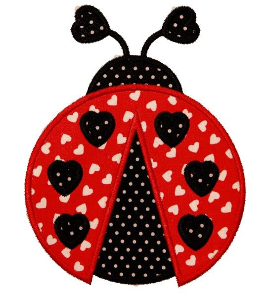 Lady Bug Would Be A Really Cute Applique For A Piece Of Clothing
