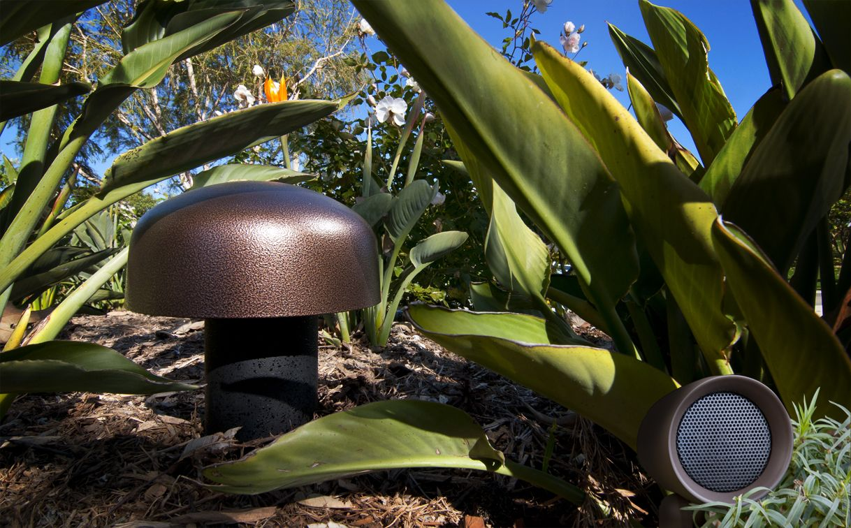 Sonance Landscape Series Sub And Satellite Speaker Discreet Design That Blends Seamlessly With Your B Outdoor Sound System Outdoor Technology Outdoor Speakers