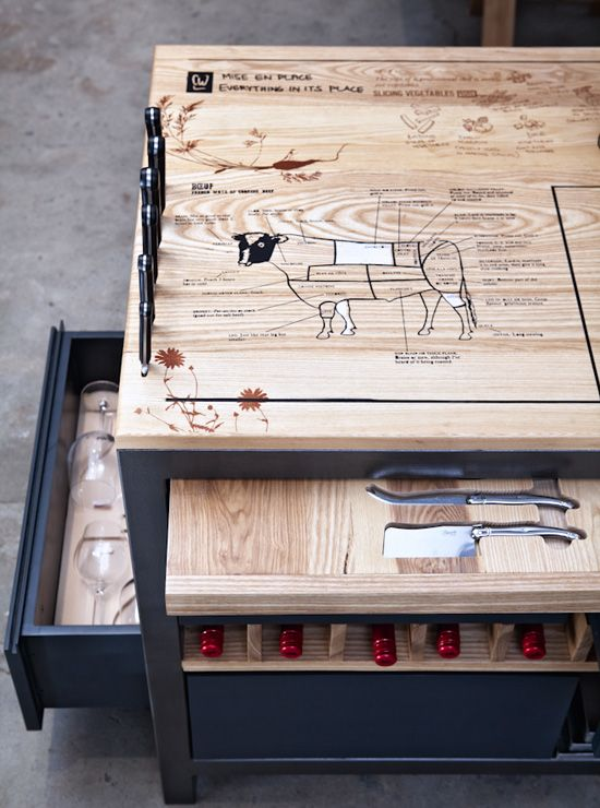The Ultimate Chef\'s Work Table, from a Culinary Star : Remodelista ...