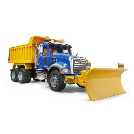 Bruder Toys Mack Granite 1 16 Play Snow Plow Dump Truck With Front Blade 02825 Blue Snow Plow Trucks Dump Truck