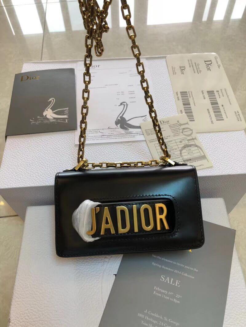 94a1b1f7be99 Dior Mini J adior Flap Bag In Black Smooth Calfskin Summer 2018 ...