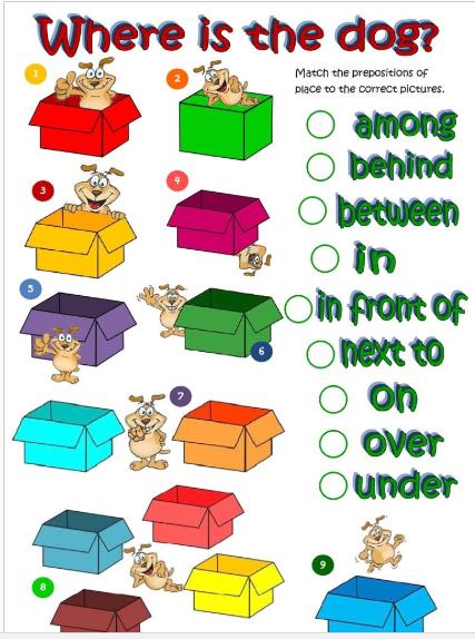 Kindergarten Spatial Concepts Worksheets