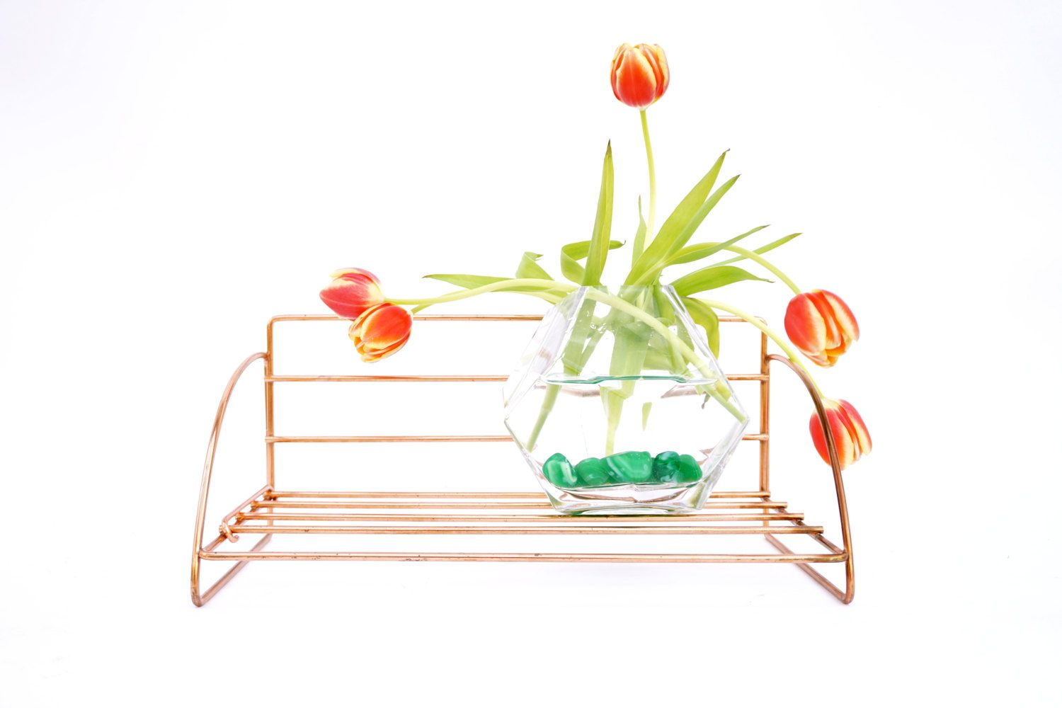 Vintage Solid Copper Wire Shelf || Wall Mount Bookshelf | Spice Rack ...