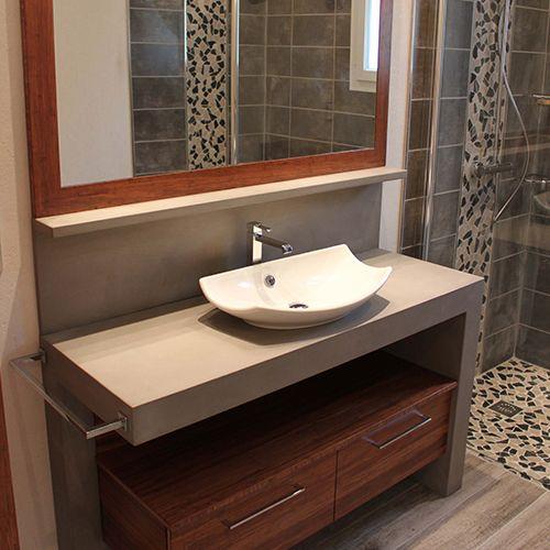 dcouvrez nos meubles de salle de bain bton cir atlantic bain fabricant de meubles de salle de bain sur mesure lunit ou en petite srie - Salle De Bain Beton Cire