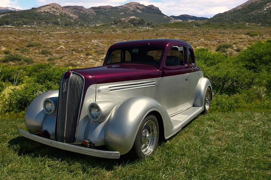 Custom Coupe Hot Rod Photograph 1936 Plymouth Custom Coupe Hot Rod ...