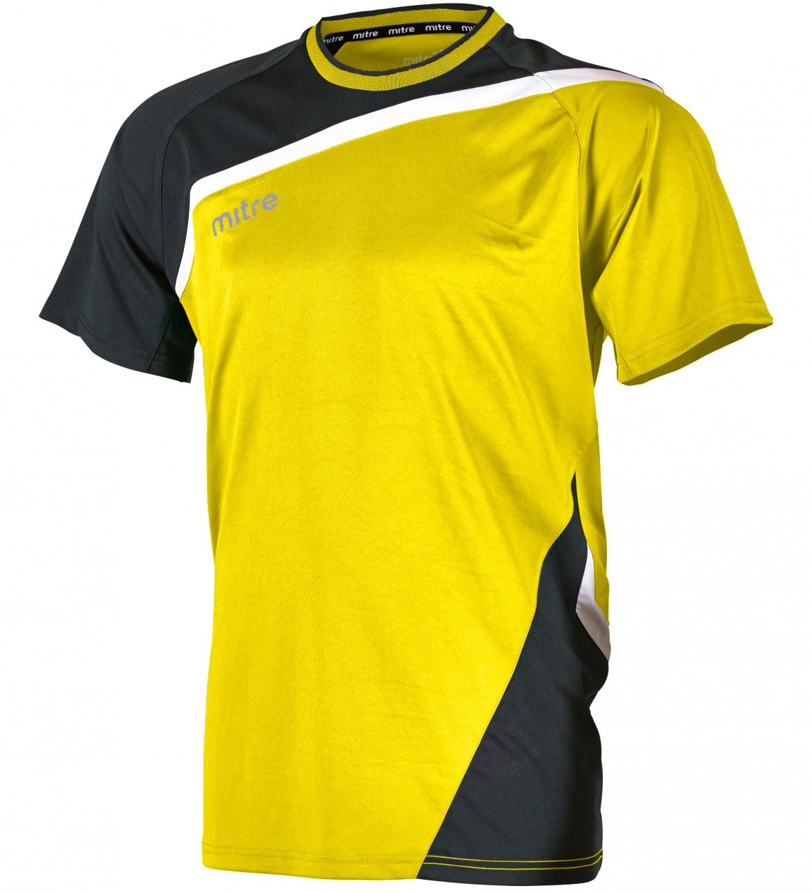 yellow & black harlequin rugby shirt Mitre Temper Jersey