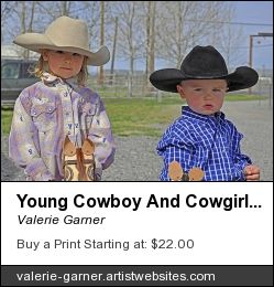 Young #Cowboy and #Cowgirl #Children with #Stick# Ponies #art prints