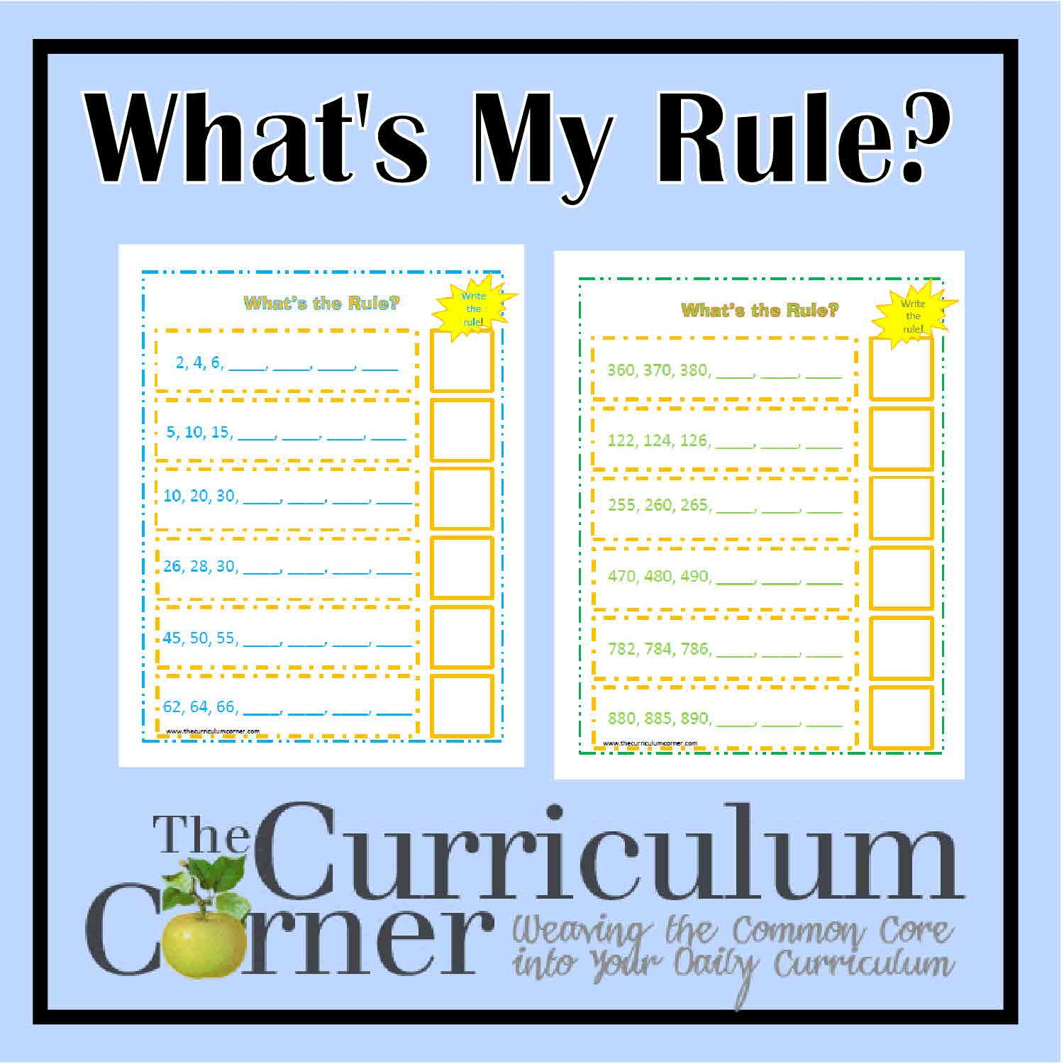 Skip counting by 2s 5s 10s number patterns students and math heres a set of pages where students determine the rule and complete the number pattern robcynllc Image collections