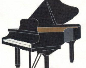 Grand Piano Cross Stitch Pattern Cross Stitch Music Cross