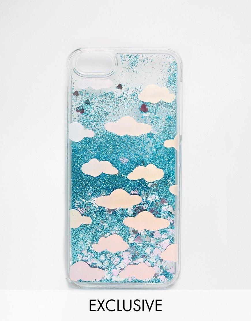 best website 94a3e bc081 Skinnydip   Skinnydip Holographic Cloud Liquid Glitter iPhone 5/5s ...