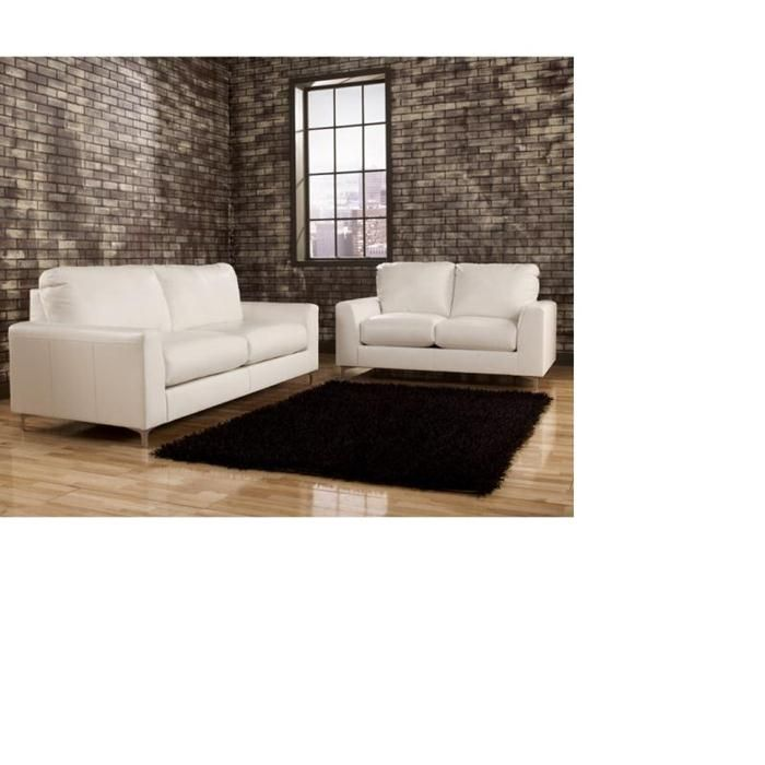 Nebraska Furniture Mart   Ashley White Bonded Leather Sofa and Loveseat. Nebraska Furniture Mart   Ashley White Bonded Leather Sofa and