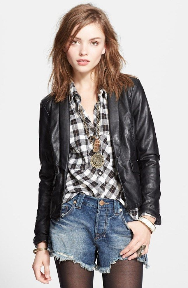 Rock this edgy blazer for a night out.