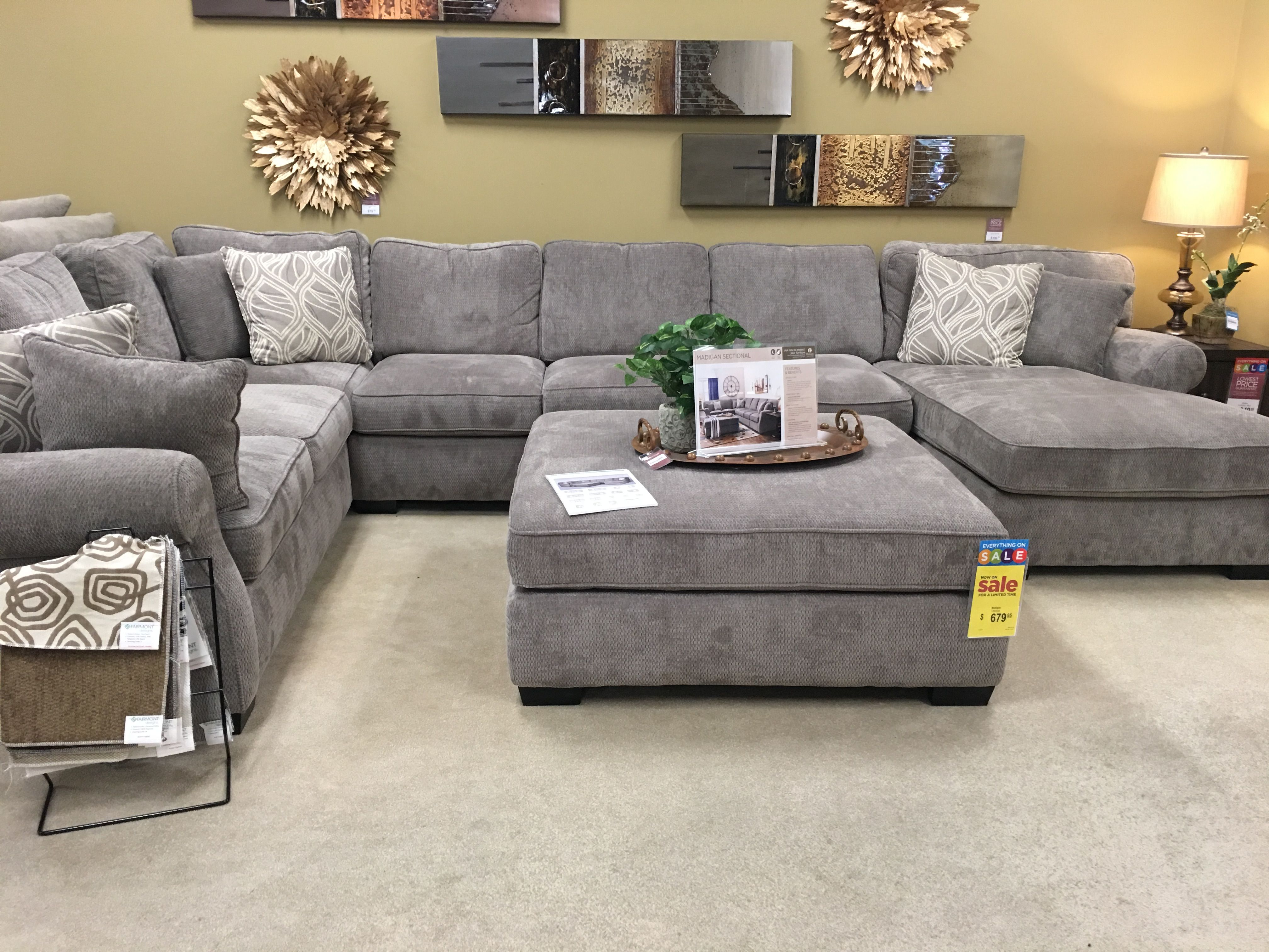 Beautiful Soft And Comfortable Sectional From Raymore And Flannigan Gray Sectional Living Room Living Room Decor Modern Simple Living Room Decor