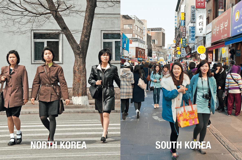 узнаем, южная и северная корея фото сравнение просты затейливы