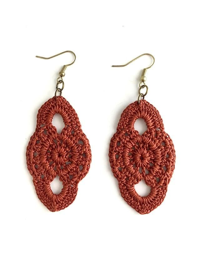 Leaf Crochet Earrings | Aretes | Pinterest | Crochet earrings ...