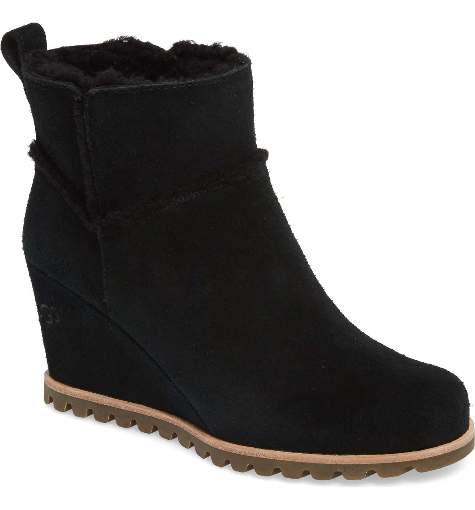 882c495cdc6 Marte Waterproof Wedge Bootie, Main, color, BLACK, size 9 ...