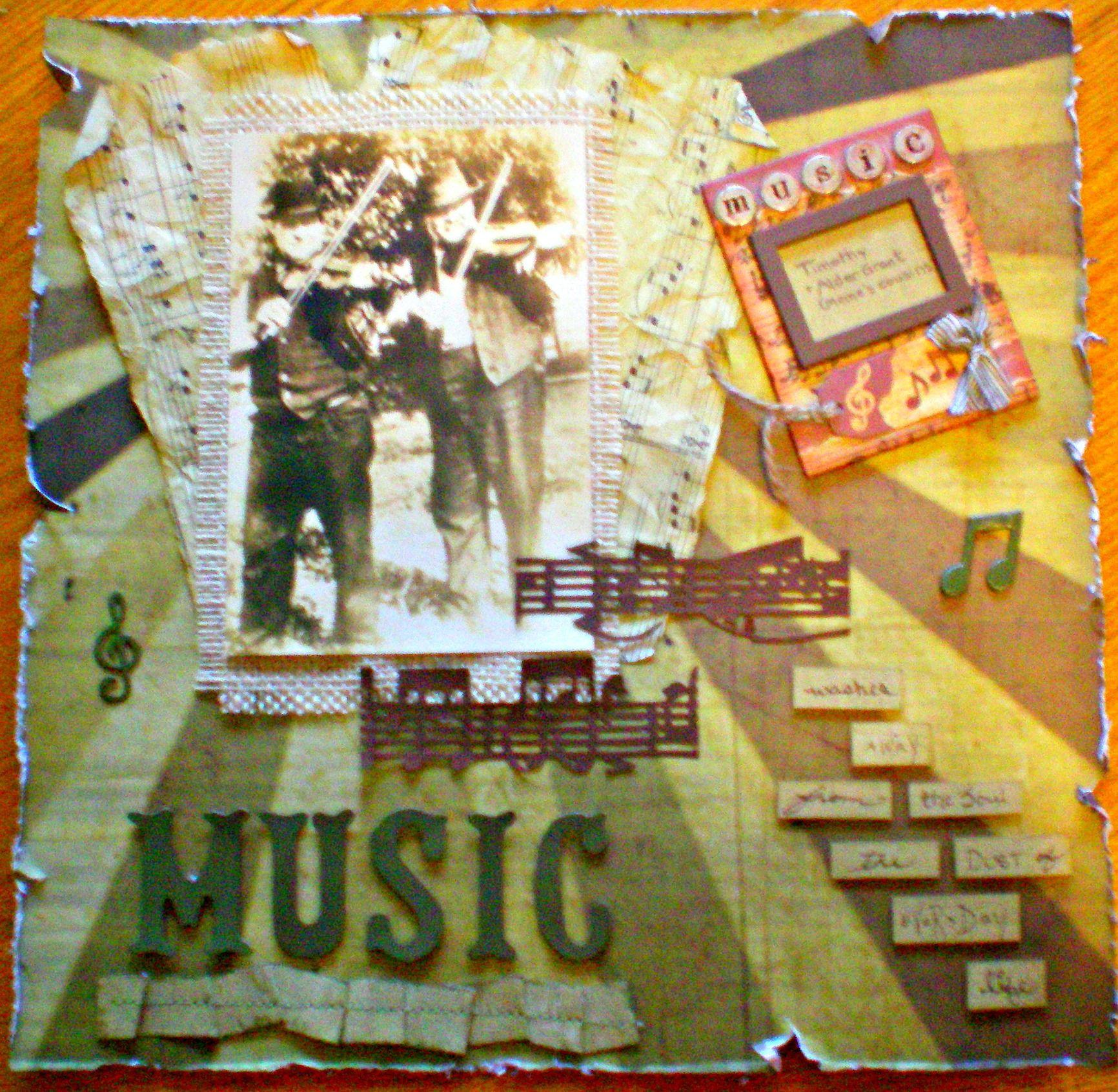 Scrapbook ideas music - Music Scrapbook Com