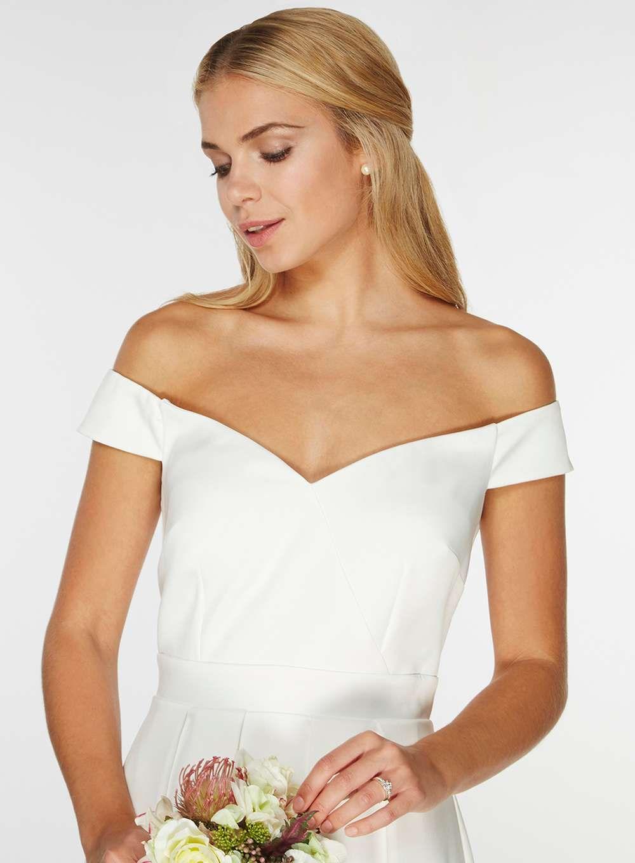 white maxi wedding dress uk