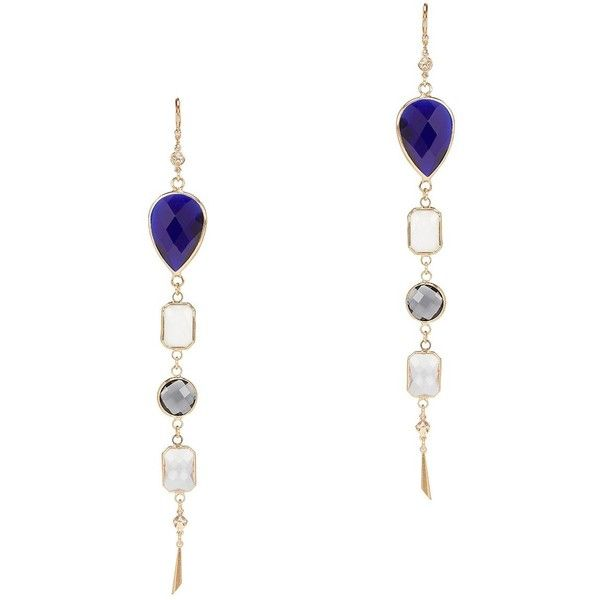 Haus Of Topper Women S Multicolor Crystal Chandelier Earrings 59 Liked On Polyvore Featuring Jewelry Blue Earring Multi Colored