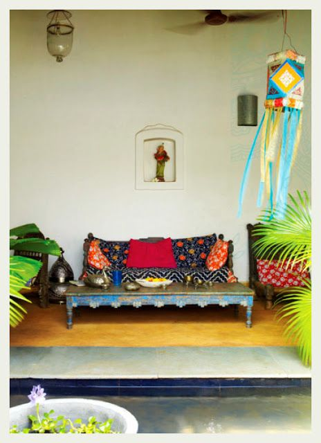 VINTAGE CHARM In the drawing room an antique Hyderabadi