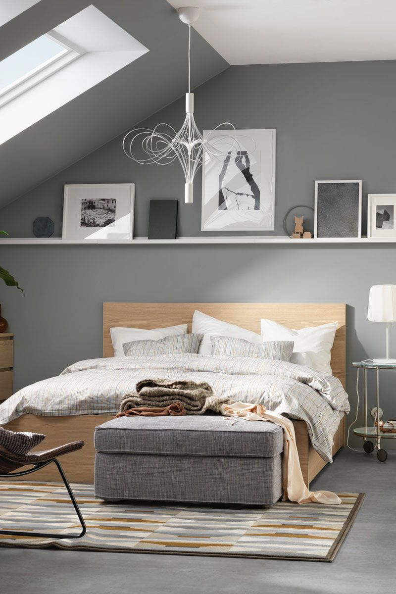 Schlafzimmer Grau Weiß Ikea