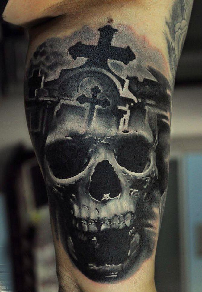 Czaszka Krzyż Tatuaż Tattoos Tattoos Skull Tattoos Skull