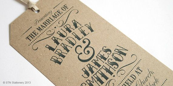 This rustic themed wedding invitation would be perfect for anyone with a love for vintage fonts & Rustic colours. Printed on 100% recycled card.
