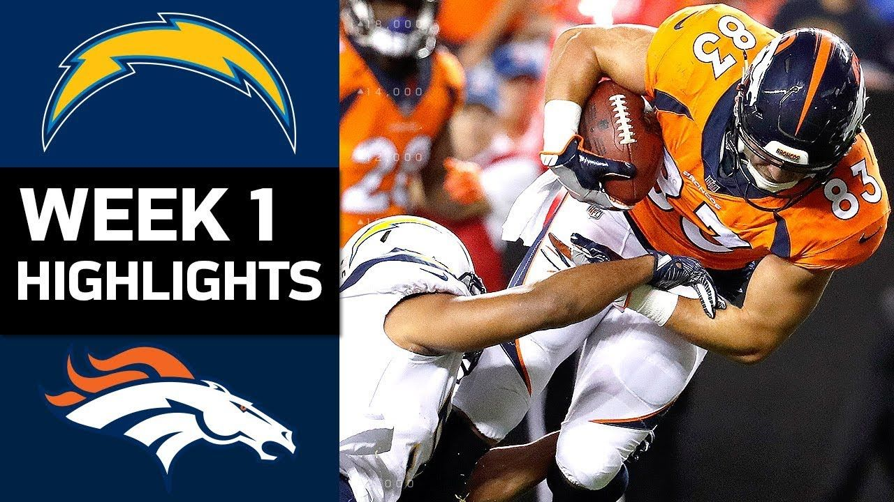 Chargers vs. Broncos NFL Week 1 Game Highlights NFL