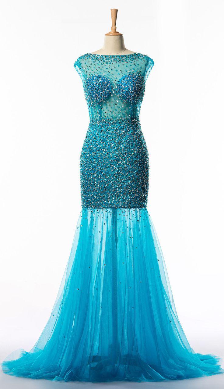 Dressv custom made shiny beaded long evening party dress dress