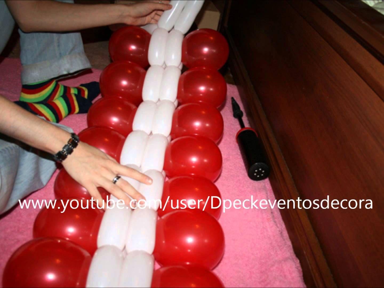 como hacer un centro de mesa con globos redondos y 260 balloon centerpiece