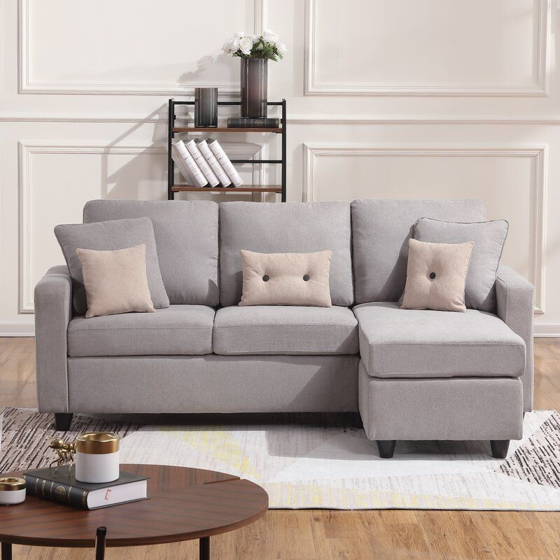Paisley Small Sectional Sofa With Storage And Pullout Sleeper Ottoman In 2020 Small Sectional Sofa Sectional Sofa Small Space Sectional Sofa