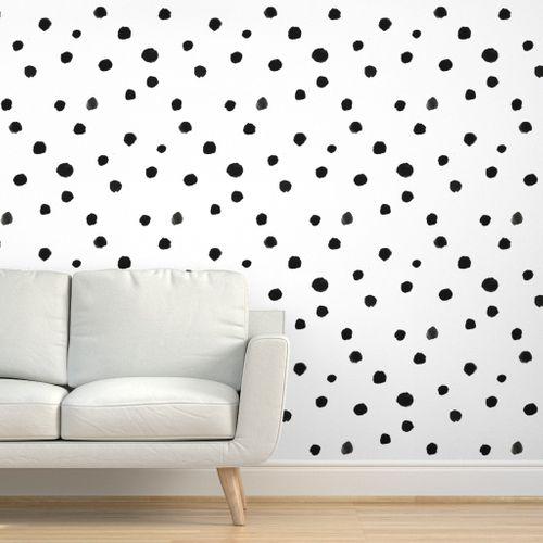 Watercolor polka dots in 2020 Room wallpaper, Polka dots