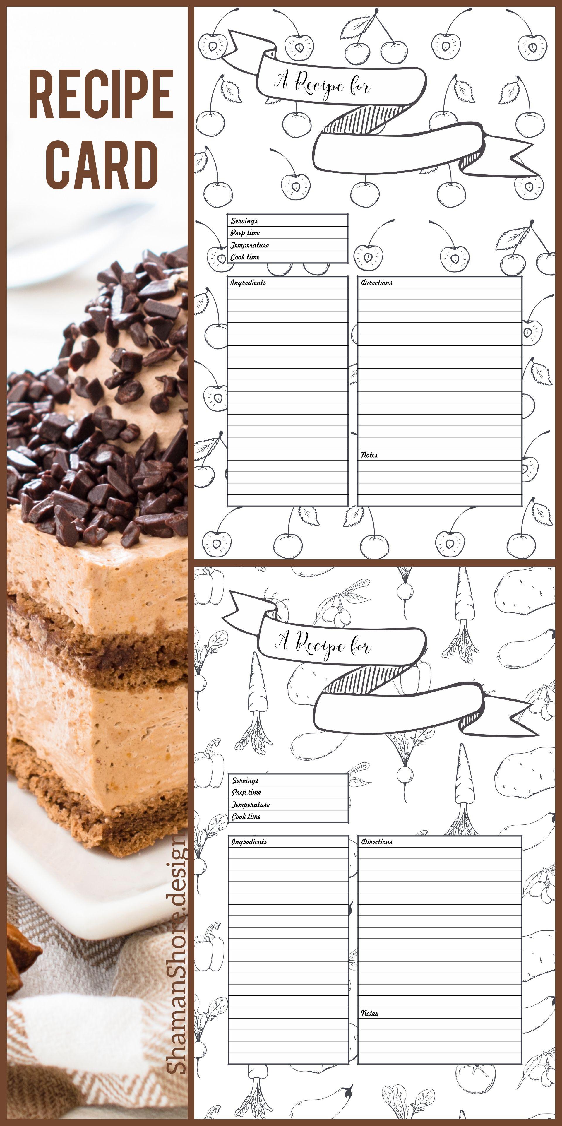 a4 recipe card template fun recipe template 8 x 11 printable blank
