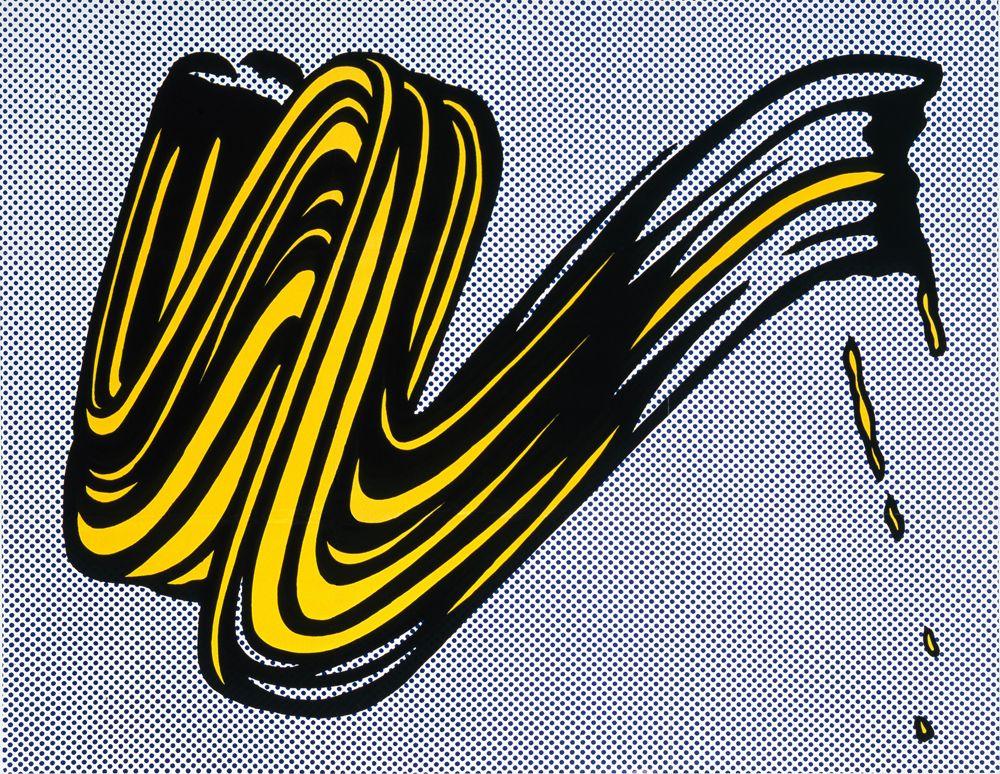 Roy Lichtenstein, Brushstroke, 1965 Roy lichtenstein pop