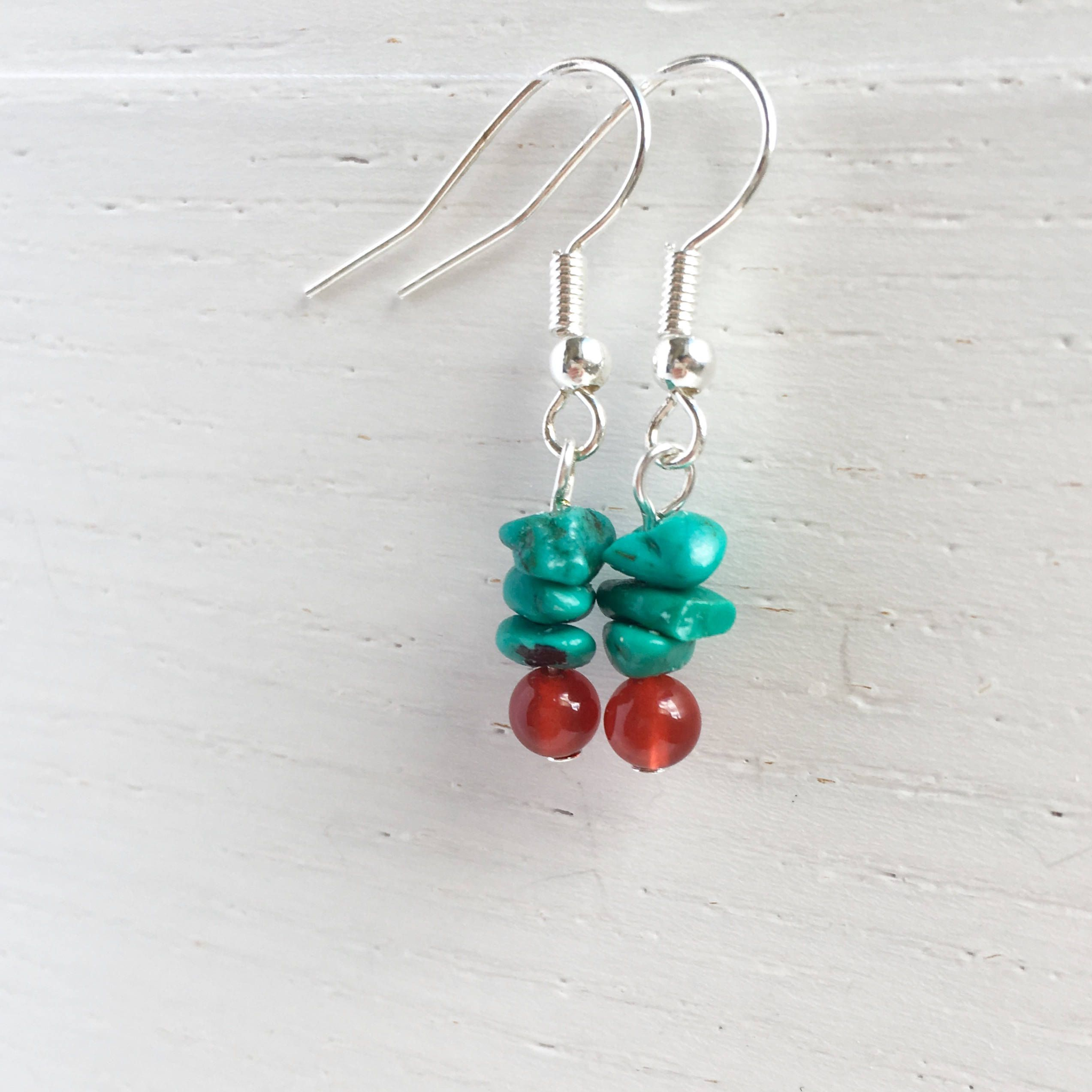 minimalist fabulous minimal carnelian turquoise and earrings eclectically pin