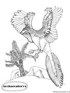 Mewarnai Gambar Dinosaurus Archaeopteryx Gambar