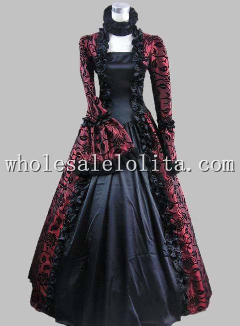 Click to Buy << Top Sale Victorian Gothic Georgian Period Dress ...