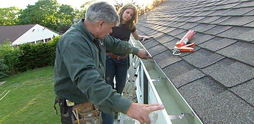 How To Repair A Leaky Gutter Roof Repair Gutters Gutter Repair