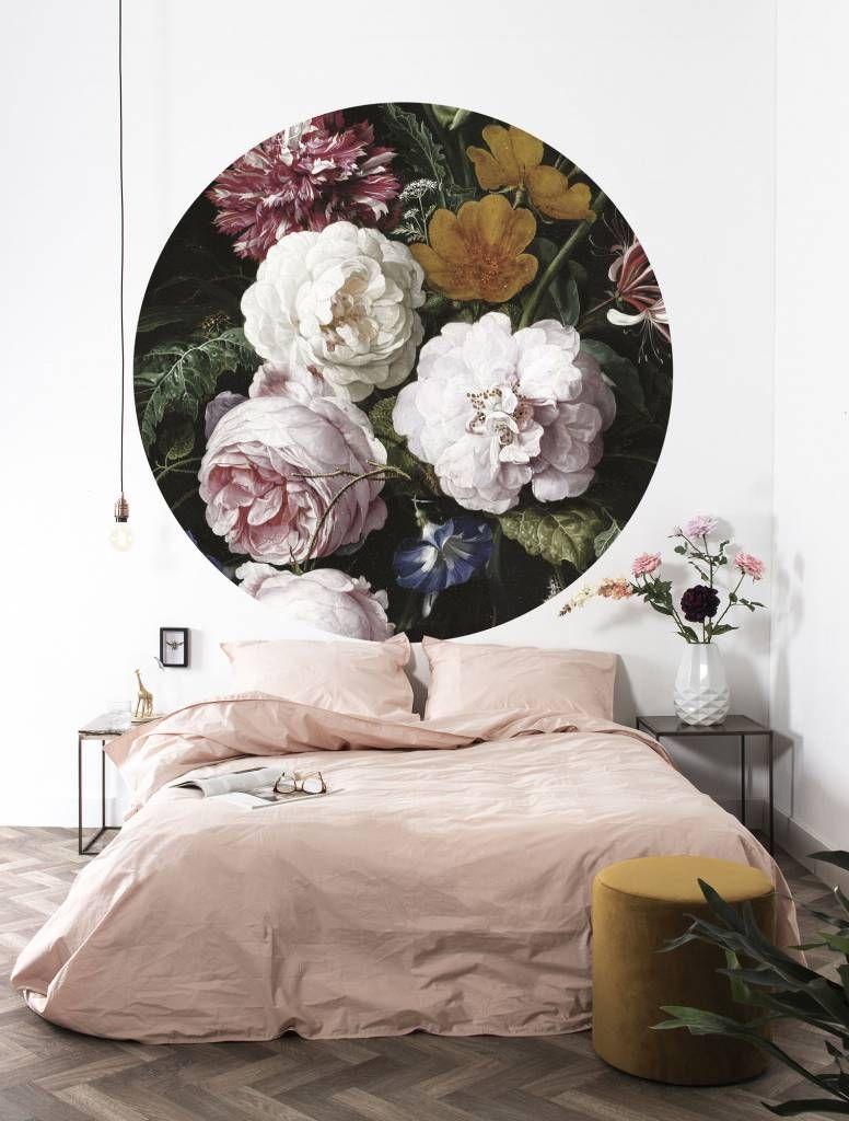 Kek Behang cirkel bloemen