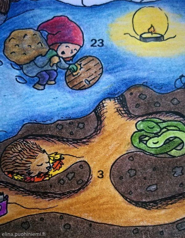 Kahdeskymmeneskolmas luukku - Tarinatädin värityskuvat