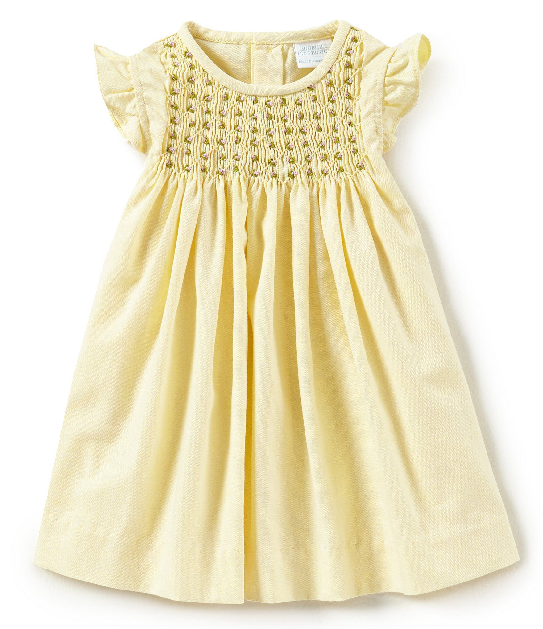2f32d0d12 Shop for Edgehill Collection Baby Girls 3-24 Months Solid Smocked ...