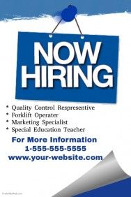 Now Hiring Flyer | shop | Pinterest