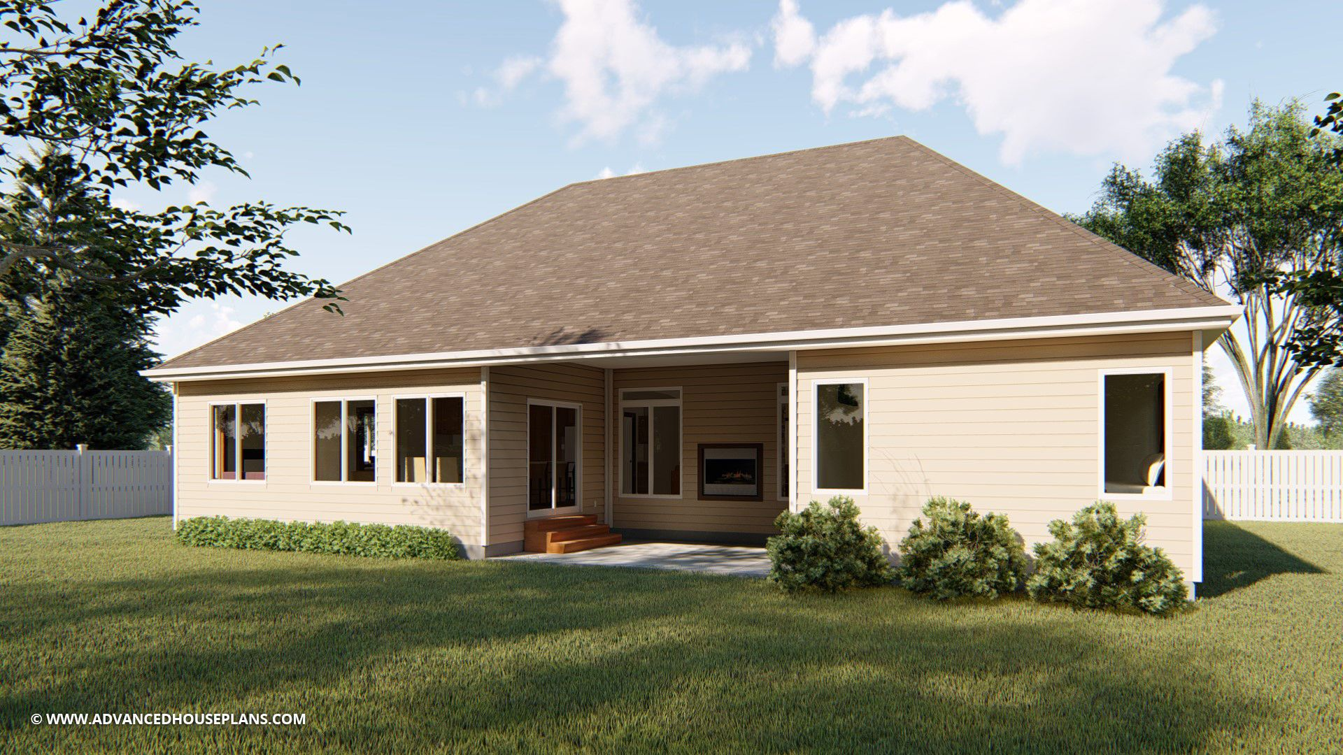 1 Story Cottage House Plan | Matthews | Cottage style house plans ...