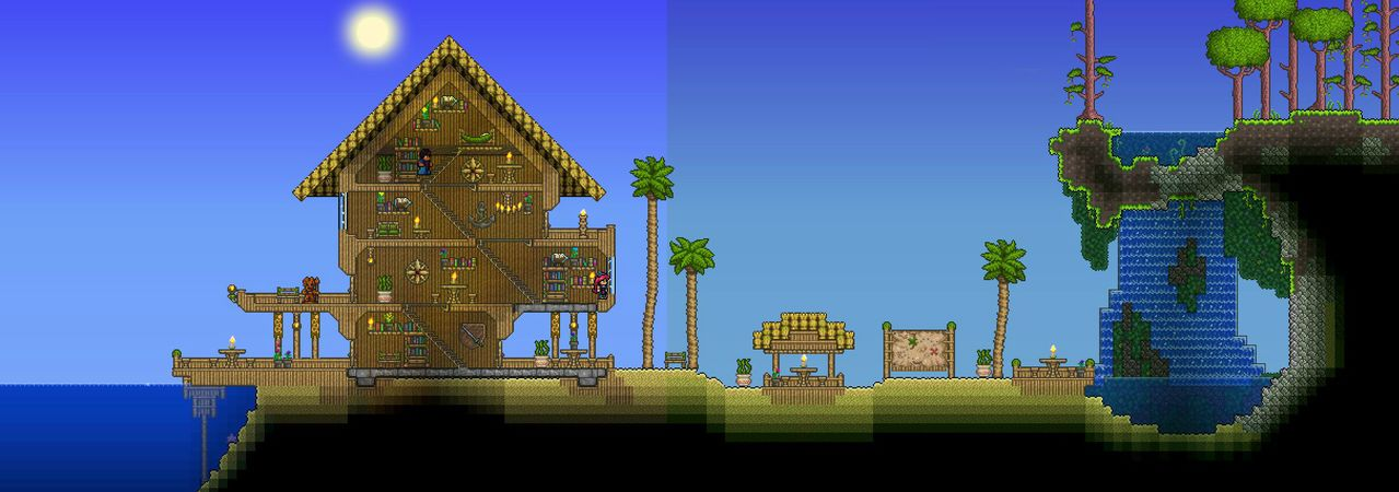 Beach Jpg Terraria House Design Building Techniques Terrarium