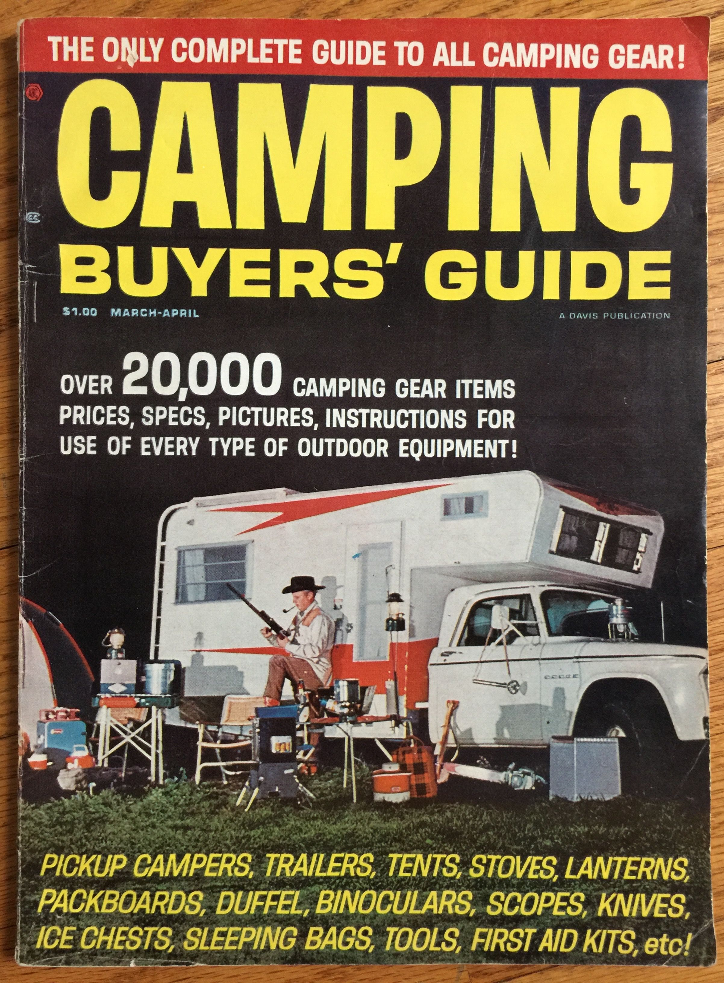 Vintage 1965 Camping Buyer\'s Guide Magazine / 1960s Camping Gear ...