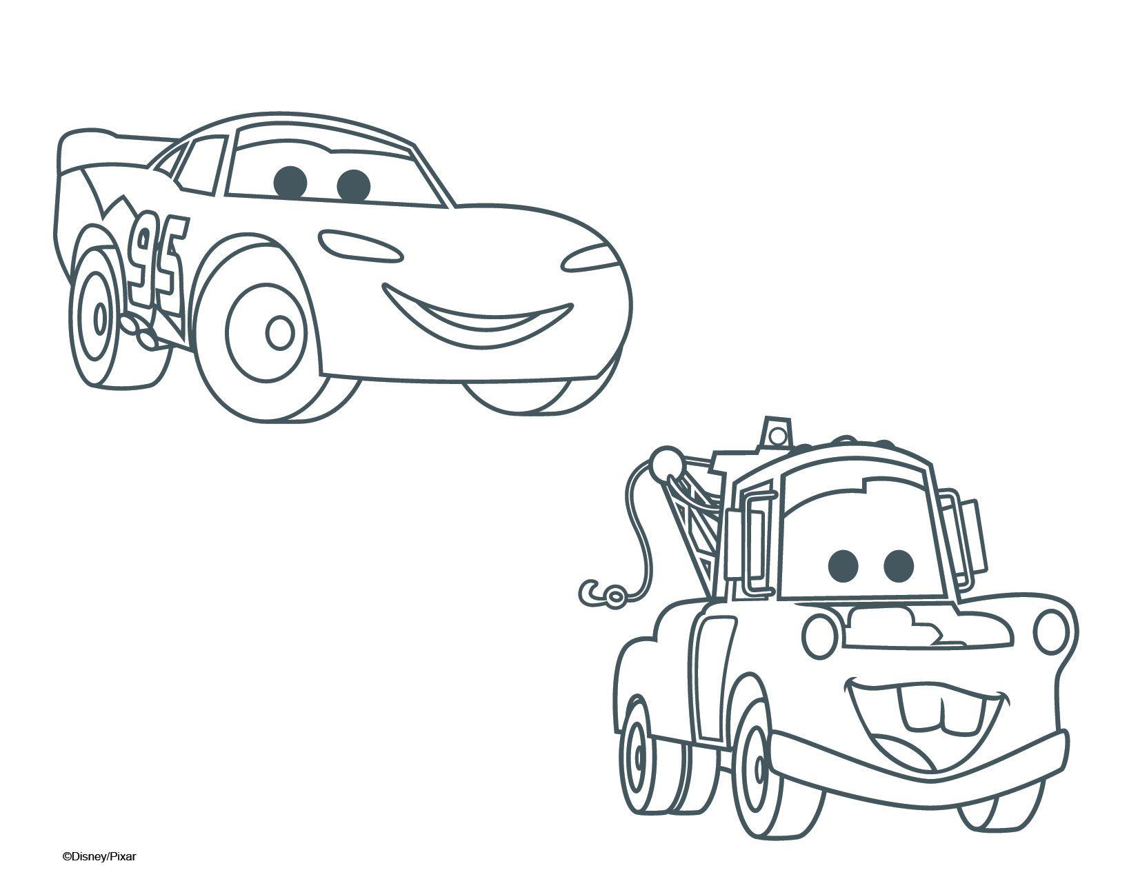Beau Dessin à Colorier Cars 1
