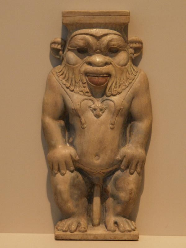 The dwarf god bes | Berlin, Germany: Altes Museum: God Bes (who