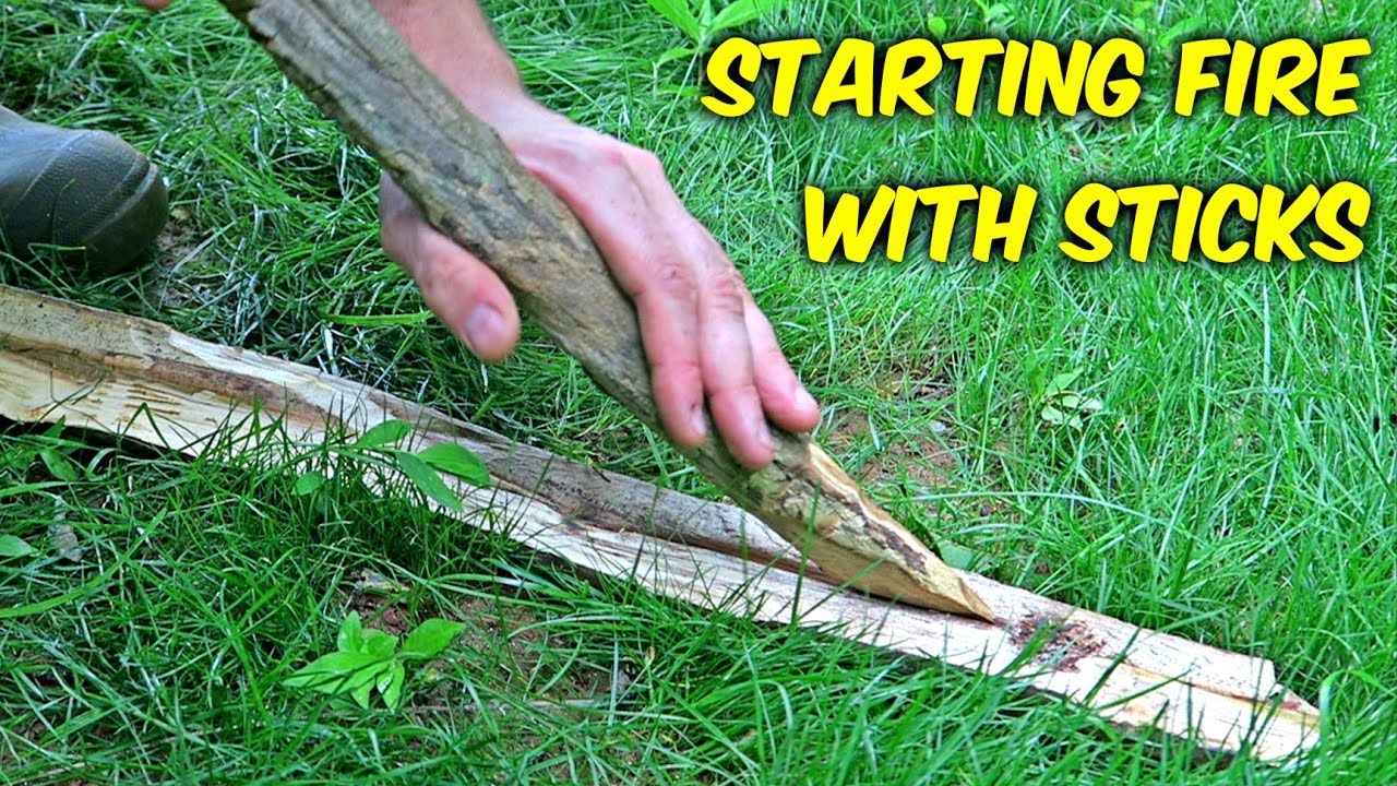 Starting Fire With Sticks Fire Plow How To Make Fire Fire Survival Skills