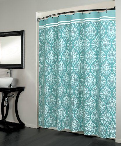 Montrose Fabric Shower Curtain Medallion 70 Inch By 72
