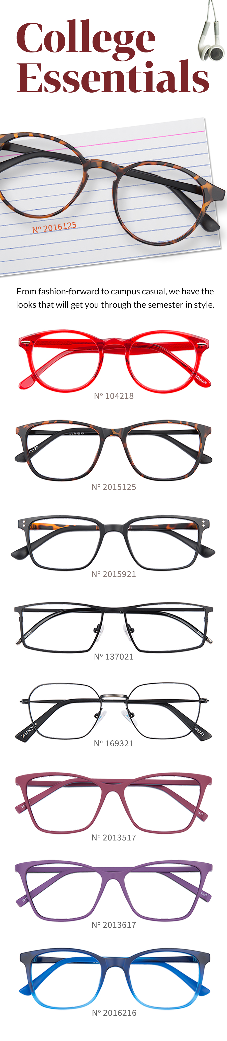 b62e9995bf7 Head to class with this year s most stylish glasses.